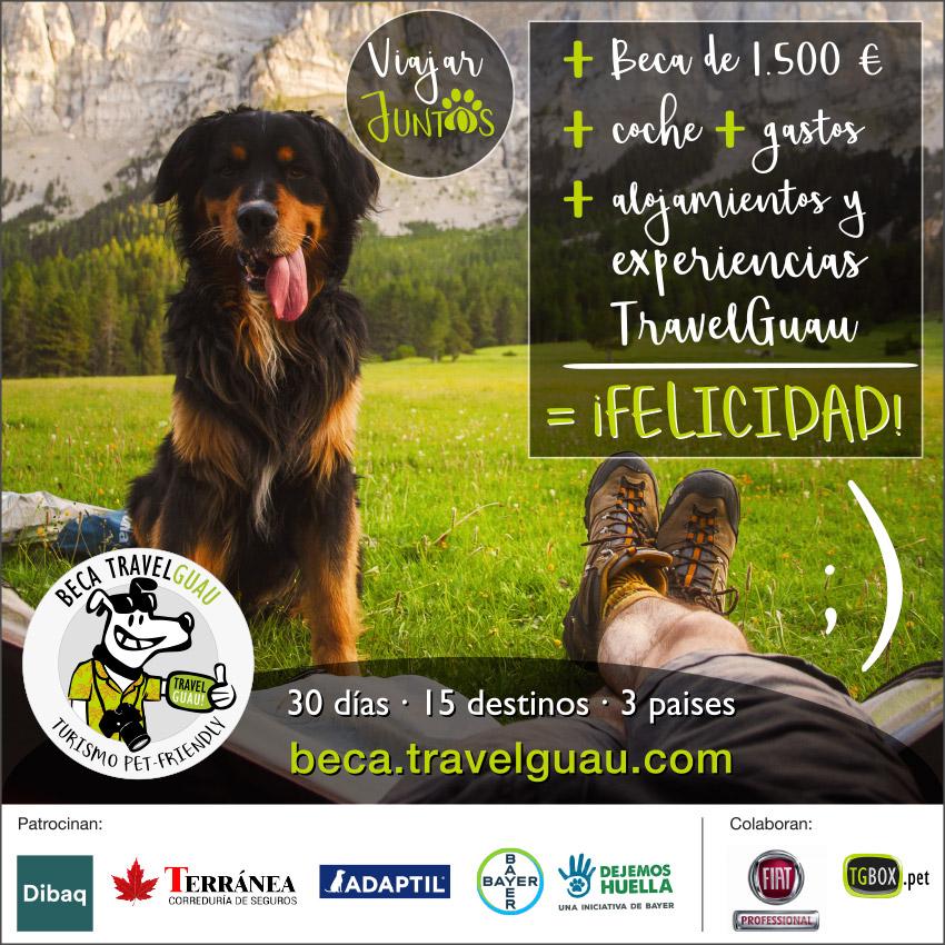 TravelGuau lanza la Mejor Beca del Mundo para viajar 30 días con mascota descubriendo 15 destinos